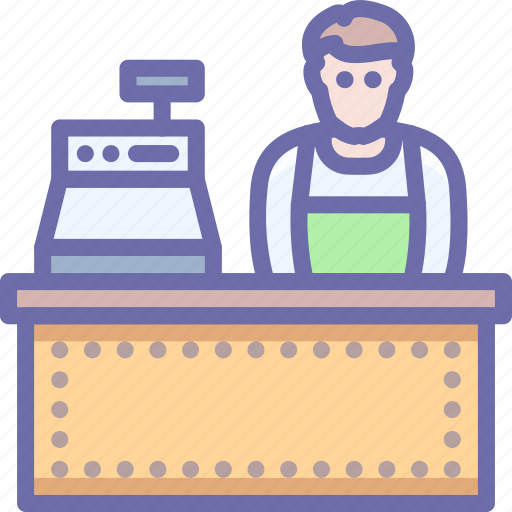 Cashier, shop, store icon - Download on Iconfinder