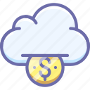 money, funding, cloud
