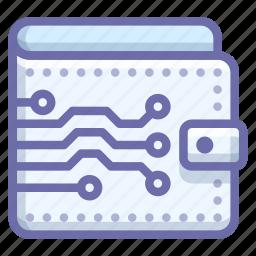 money, virtual, wallet icon