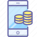 bank, mobile, money icon