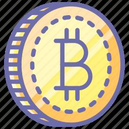 bitcoin, coin, money icon