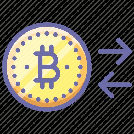 Bitcoin, convert, money icon - Download on Iconfinder