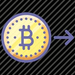 bitcoin, money, send icon