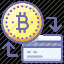 bitcoin, card, money icon