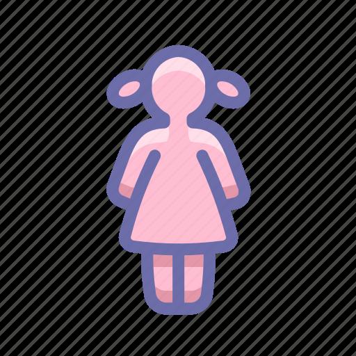 child, girl icon