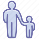 child, family, father, parental control icon