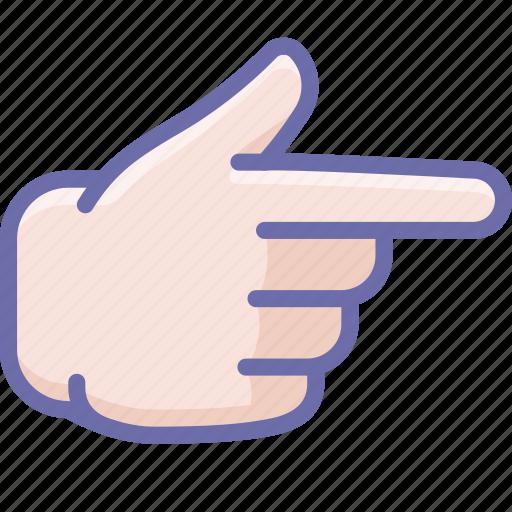 finger, forefinger, right icon