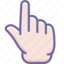 finger, forefinger, hand icon