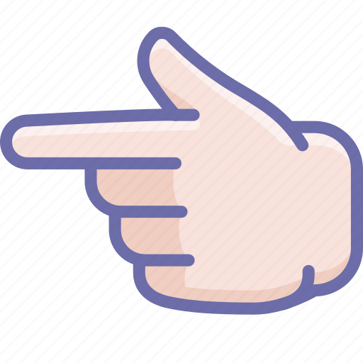 Finger, forefinger, hand, left icon - Download on Iconfinder