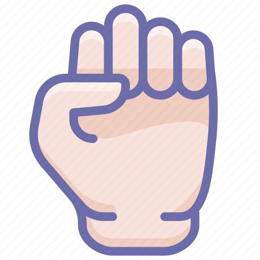 fist, hand, will icon