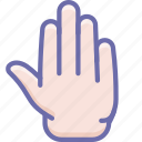 fingers, hand, high five icon