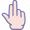 fingers, hand, three icon