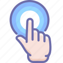 click, finger, hand icon