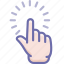 click, finger, hand, point icon