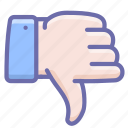 dislike, down, thumbs, vote icon