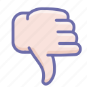 dislike, thumbs down, vote icon