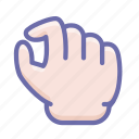 out, pinch, zoom icon