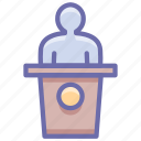conference, presentation, speech icon