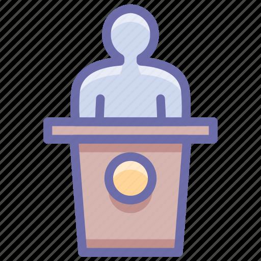 conference, presentation, speech icon