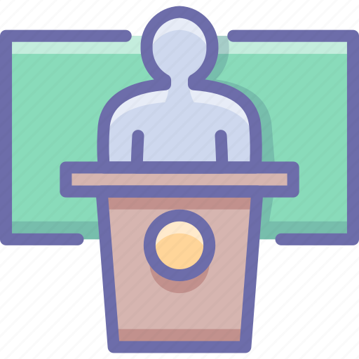 education, presentation, speech icon