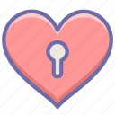 heart, love, private icon