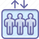 elevator, group, lift icon