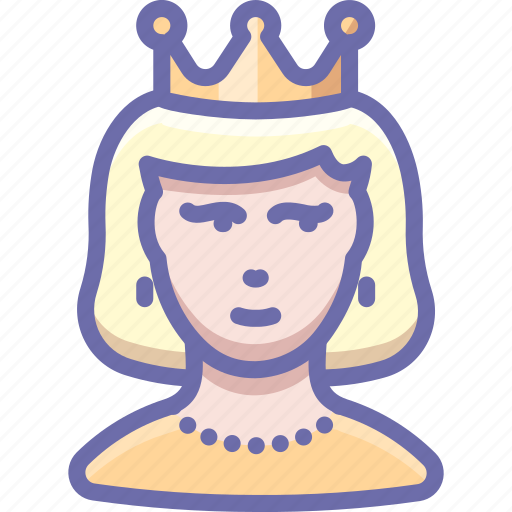 lady, princess, queen, woman icon