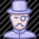 man, mustache, vintage icon