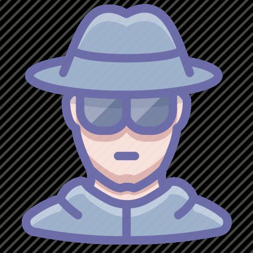 glasses, hat, incognito, spy icon