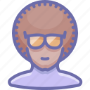 dancer, disco, glasses icon