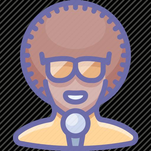 artist, disco, glasses, singer icon