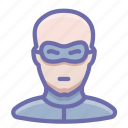 avatar, bald, bandit, human, thief icon