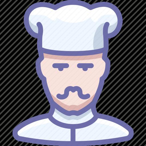 avatar, cook, mustache icon