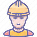 builder, industrial, man, working
