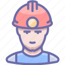 avatar, human, industrial, man, miner icon