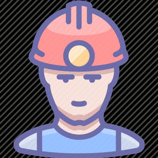 industrial, man, miner icon