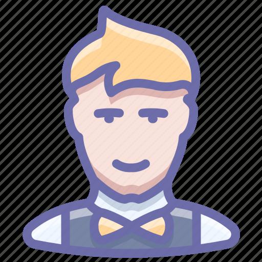 man, office, waiter icon