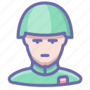 helmet, retro, soldier icon