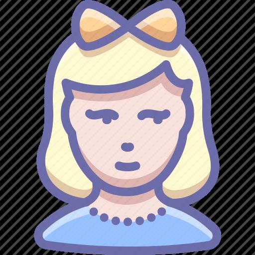 avatar, child, girl icon