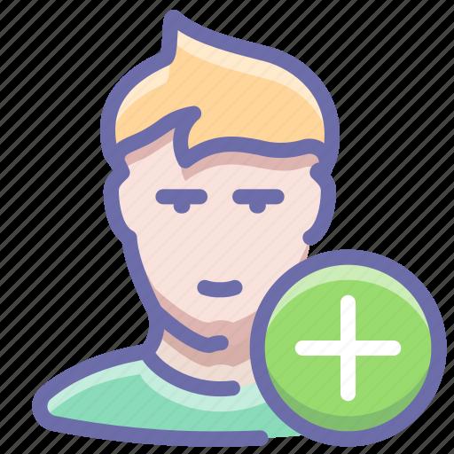 follow, new, user icon