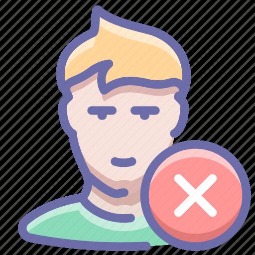 delete, man, user icon