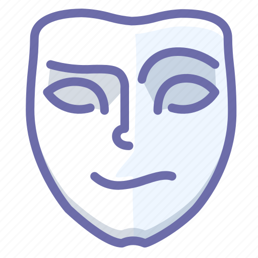 cheerful, emotion, face, mask icon