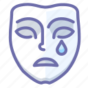 emotion, mask, sad, face