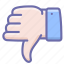 disagree, dislike, down, no, thumbs, vote icon