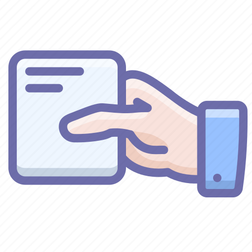 Business, card, hand icon - Download on Iconfinder