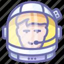 astronaut, helmet, space
