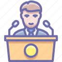 conference, meeting, presentation icon