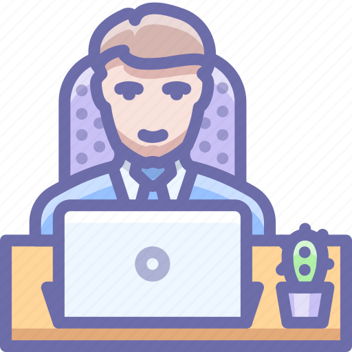 man, office, workplace icon