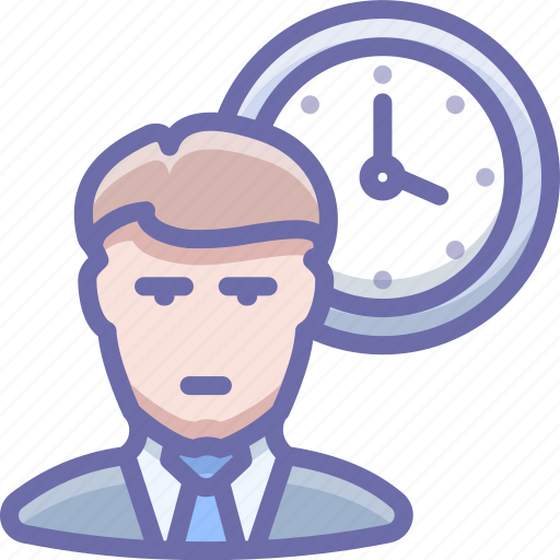 office, person, time, working icon