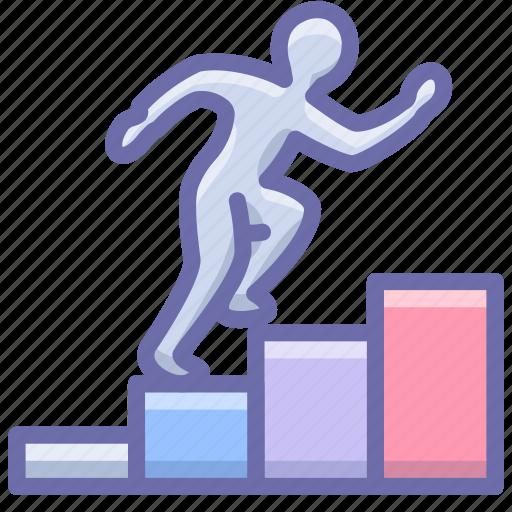 career, employee, growth icon